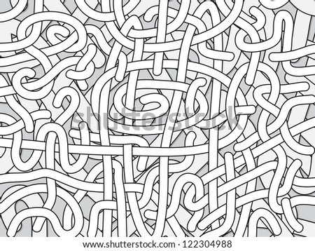 Entangled monochrome background - black and white