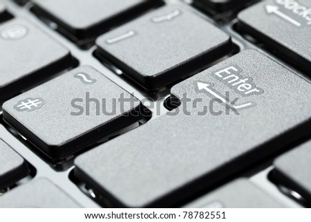 Enter button on keyboard - stock photo
