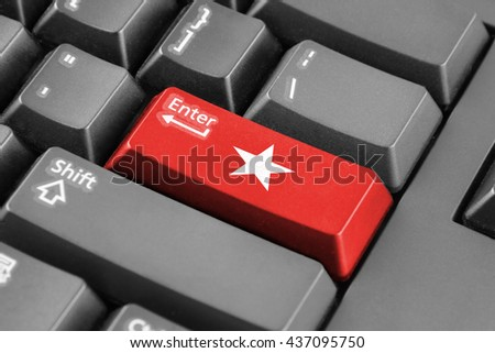 Enter button with Flag of Maastricht - stock photo