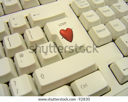 "Enter Key replaced by Heart and the word ""Love"""