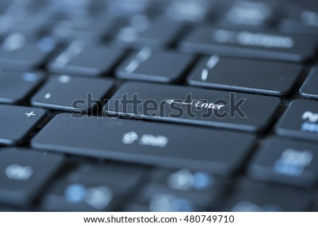 Enter keyboard closeup
