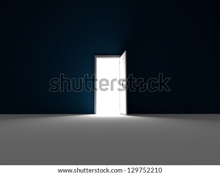 Enter the light - 3D rendered - stock photo