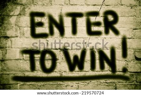Enter To Win Concept - stock photo