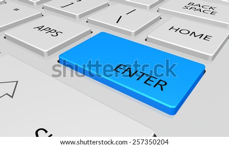 enter with word key or keyboard - stock photo