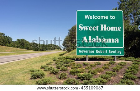 Entering Sweet Home Alabama Road Highway Welcome Sign