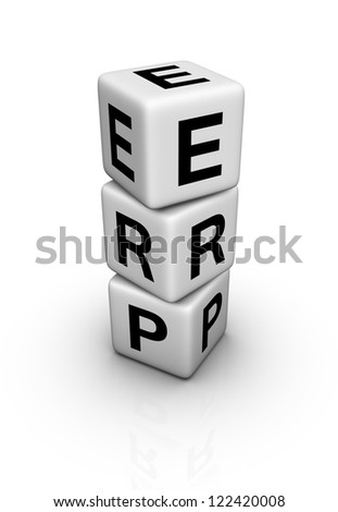 Enterprise Resource Planning System (ERP) symbol - stock photo
