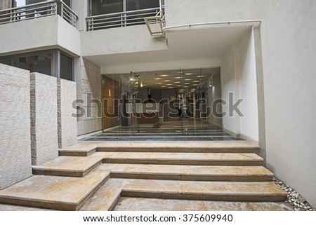 Entrance Door And Steps To A Modern Luxury Apartment Building Part 85