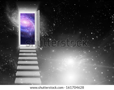 Entrance Exit - stock photo