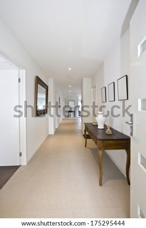 Entrance foyer of a contemporary home in australia - stock photo