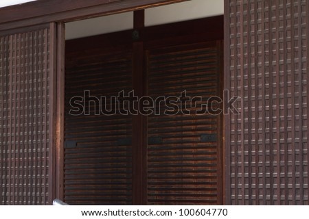 entrance of imperial palace in Kyoto Japan - stock photo