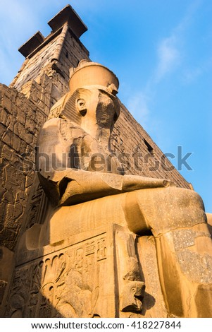 Entrance of Luxor Temple, Egypt - stock photo