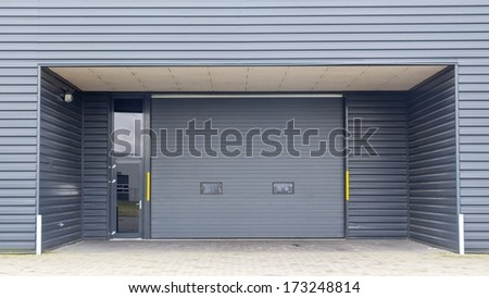 Entrance of modern business unit - stock photo