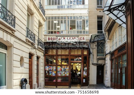 Entrance of the Bouillon Chartier - historic restaurant founded in a former train station in 1896, classified as monument, Paris, France 2012 July 24
