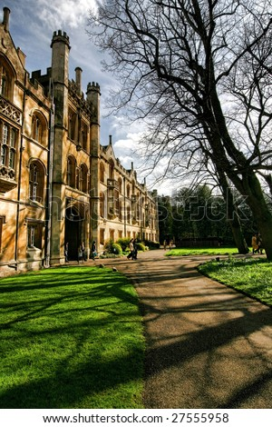 Entrance of Trinity College, Cambridge University, England