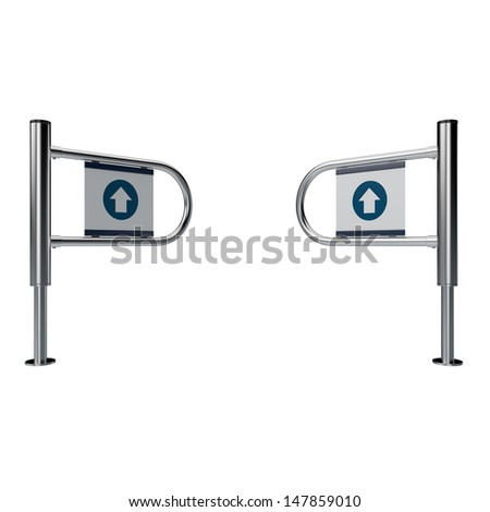 entrance sign  in a mall or mart isolated on white - stock photo