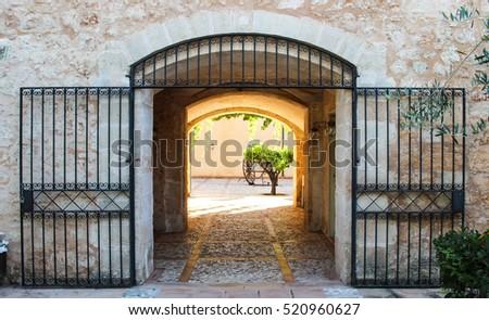 Entrance To A Spanish Patio, Mallorca, Spain, Europe