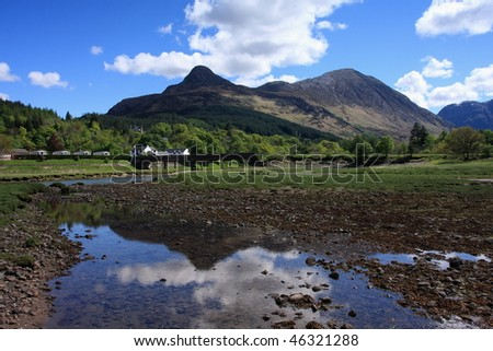 Entrance to Glencoe. - stock photo
