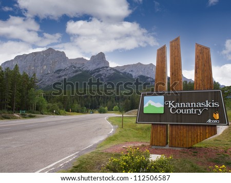 Entrance to Kananaskis Country, part of Banff National Park, Alberta, Canada
