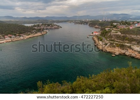 Entrance to the Bay of Santiago, Cuba