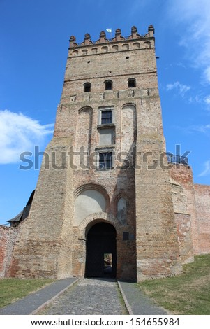 Entrance to the castle in Lutsk - stock photo
