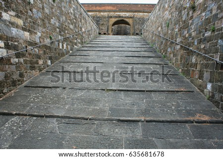 Entrance to the Forte di Belvedere in Florence, Tuscany, Italy