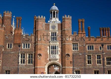 Entrance to the Hampton Court - stock photo