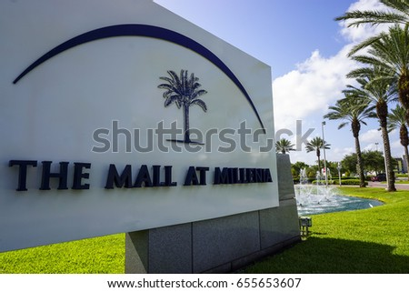 Entrance to The Mall at Millenia on May 13, 2017. The Mall at Millenia is an upscale, indoor shopping mall located in Orlando, Florida, USA.