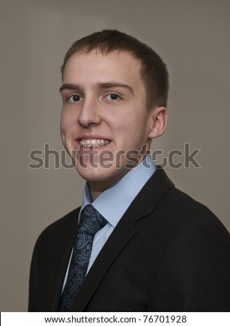 Entrepreneur in Braces - stock photo