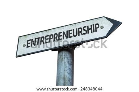 Entrepreneurship sign isolated on white background - stock photo