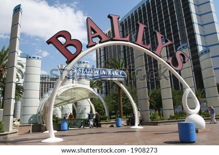 entry to Bally's hotel - stock photo