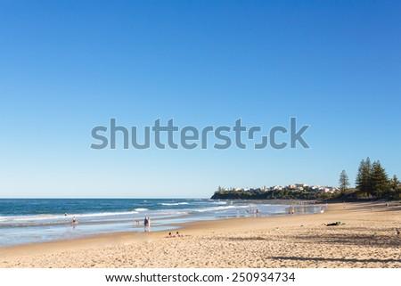 Entry to Dicky beach (Sunshine Coast, Dicky Beach, QLD, Australia) - stock photo