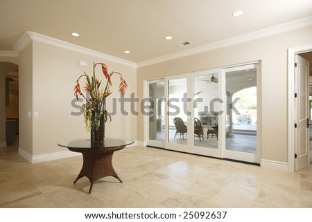 Entry way in a luxury home - stock photo