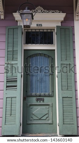 Entryway door in New Orleans - stock photo