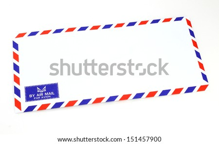 Envelope air mail on white background