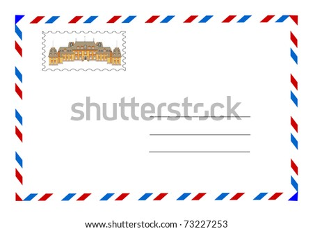 envelope and postage stamp