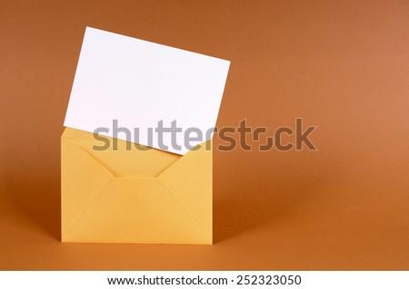 Envelope, card. - stock photo