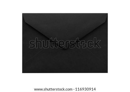 Envelope isolated on a white background - stock photo