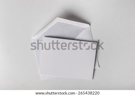 Envelope, letter, card. - stock photo