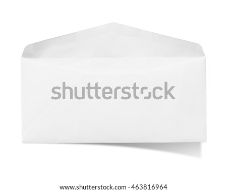 Envelope on white background with clipping path.
