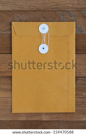 Envelope on Wood