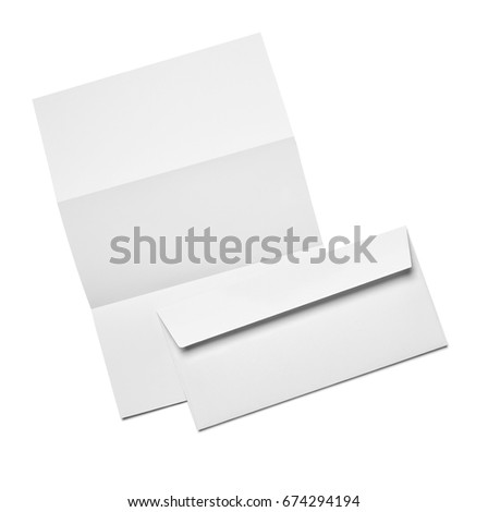 Envelope Paper Business Card Template On Stock Photo
