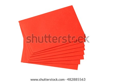 Envelope Red gift bag for the money in the Chinese New Year isolated on white background.