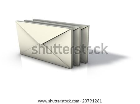 Envelopes Icon - stock photo