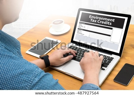 Environment Tax Credits Document Form Credits Computing Computer  flare sun, Cropped image male freelancer sitting at the table