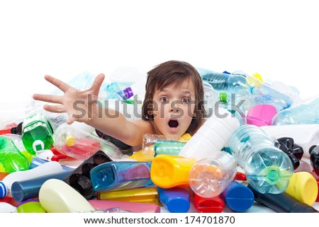 Environmental disaster concept - our legacy to the future generations - stock photo