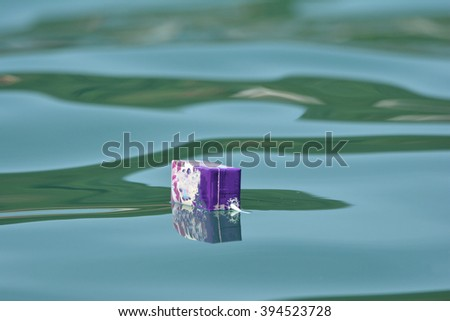 Environmental problem ,milk box  in the sea