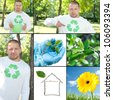 Environmental protection, collage - stock photo