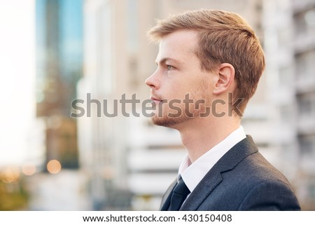 Envisioning success in business - stock photo