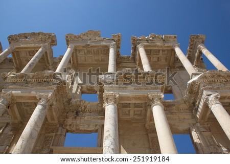 Ephesus - Ancient Greek city of Asia Minor, which is today West Turkey, Izmir - stock photo