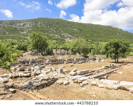 Ephesus ruins. Ancient Greek city on the coast of Lonia near Selcuk. Izmir province. Turkey. Asia Minor